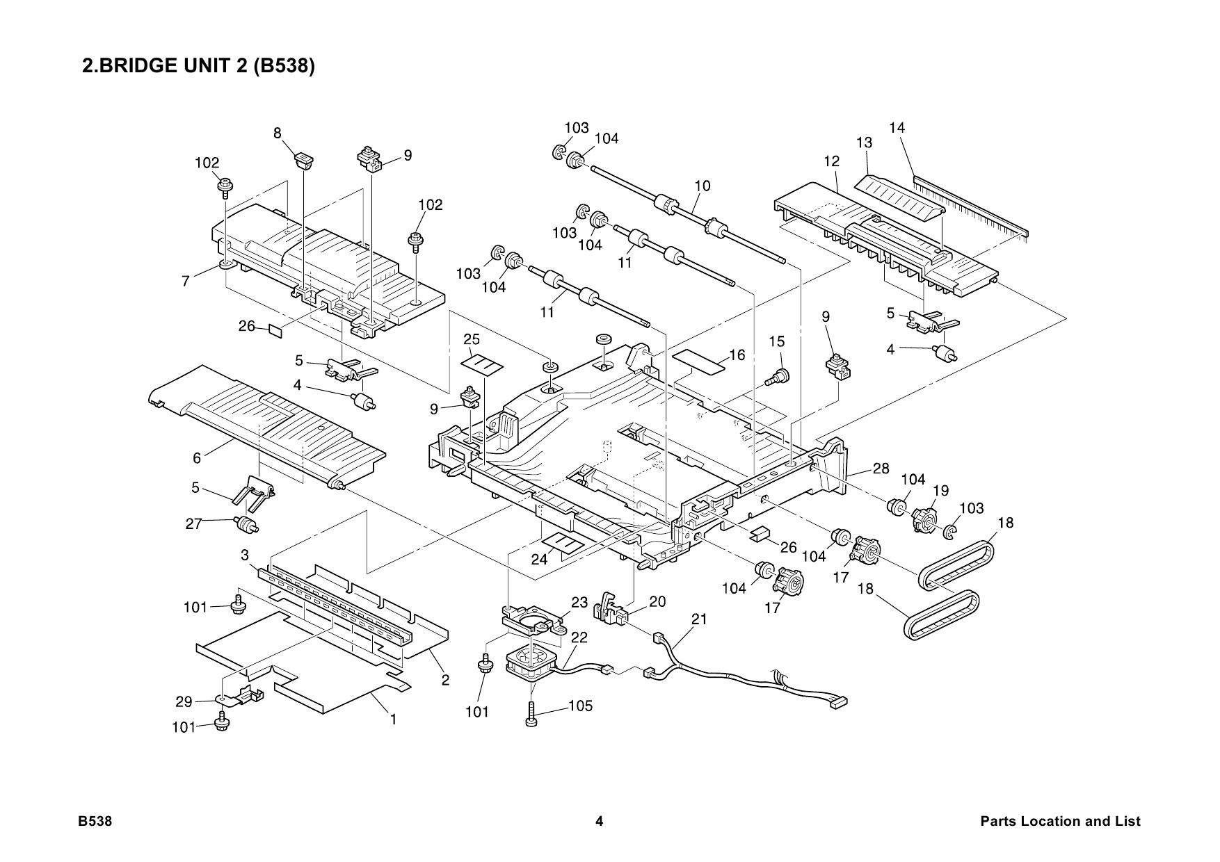 ricoh options b538 bridge